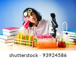 chemist in the lab... | Shutterstock . vector #93924586