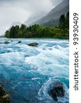 Milky Blue Glacial Water Of...