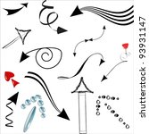 set   arrows | Shutterstock .eps vector #93931147