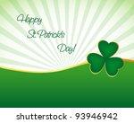st. patrick's day wallpaper | Shutterstock .eps vector #93946942