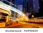 moving car with blur light... | Shutterstock . vector #93950449