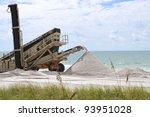Beach Renourishment to Restore Coastline - stock photo