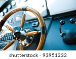 steering wheel on a luxury... | Shutterstock . vector #93951232
