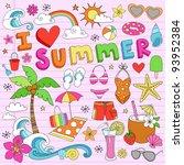 i love summer psychedelic...   Shutterstock .eps vector #93952384