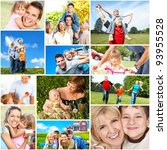 happy family collage background.... | Shutterstock . vector #93955528