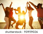group of happy young people... | Shutterstock . vector #93959026