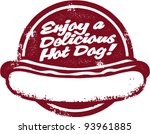 enjoy a hot dog vintage sign | Shutterstock .eps vector #93961885