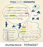 hand draw vector elements | Shutterstock .eps vector #93966067