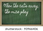 handwriting blackboard writings ... | Shutterstock . vector #93966406