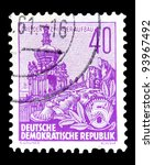 gdr   circa 1955  a stamp... | Shutterstock . vector #93967492