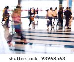 city people crowd abstract... | Shutterstock . vector #93968563