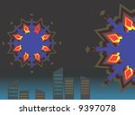 celebration with fire works  | Shutterstock .eps vector #9397078