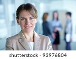 image of pretty business leader ... | Shutterstock . vector #93976804