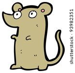 little mouse cartoon  raster... | Shutterstock . vector #93982351