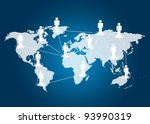 social networking concept | Shutterstock . vector #93990319