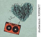 vintage audio cassette... | Shutterstock .eps vector #93990877