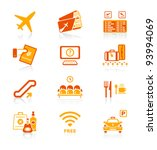 airport services and objects... | Shutterstock .eps vector #93994069