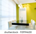 Living room with furnishings in a new house. - stock photo