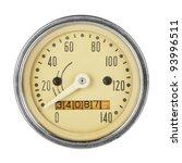 Close Up Of Vintage Speedometer