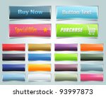 web elements vector button set | Shutterstock .eps vector #93997873