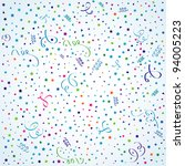 birthday background with... | Shutterstock . vector #94005223
