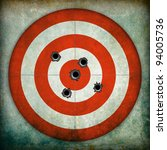 target with bullet holes ... | Shutterstock . vector #94005736