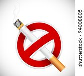 illustration of no smoking sign ... | Shutterstock .eps vector #94008805