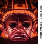 clay mask of a maya in the dark ...   Shutterstock . vector #94015306