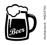 alcohol,bar,beer,black,draught,drawing,drink,froth,glass,graphic,hop,icon,illustration,isolated,lager