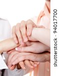 group of hands together... | Shutterstock . vector #94017700