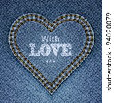 Abstract Blue Jeans Heart On...