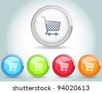 vector glossy shopping basket...