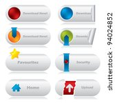 cool download web buttons with... | Shutterstock .eps vector #94024852