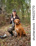 Woman Duck Hunter Portrait Wit...