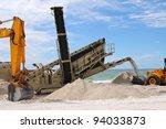 Beach Restoration - stock photo
