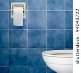 white sanitary ware and tissues ... | Shutterstock . vector #94043722