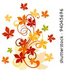 Autumnal leaves background for thanksgiving or seasonal design. Vector version also available in gallery - stock photo