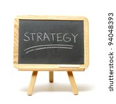 A simple tactic in success is to have strategy. - stock photo