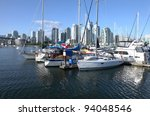 Vancouver Bc. Skyline At False...