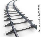 Turning Railway. 3d Render...