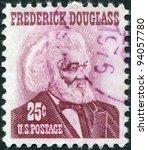 Small photo of USA - CIRCA 1967: A stamp printed in the USA, shows Frederick Douglass, circa 1967