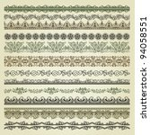 set of vintage borders. could... | Shutterstock .eps vector #94058551