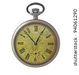 Stock photo old dirty pocket watch isolated on white 94061290