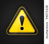 hazard warning attention sign... | Shutterstock .eps vector #94072228