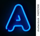 highly detailed neon sign with... | Shutterstock . vector #94092508