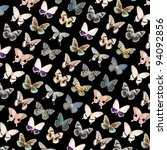 butterfly black background for design - stock photo