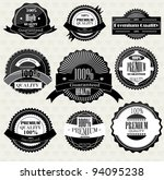 set of superior quality and... | Shutterstock .eps vector #94095238