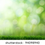 natural green background with... | Shutterstock . vector #94098940