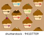 funny muffins   Shutterstock .eps vector #94107709