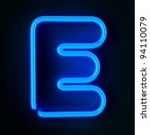 highly detailed neon sign with... | Shutterstock . vector #94110079
